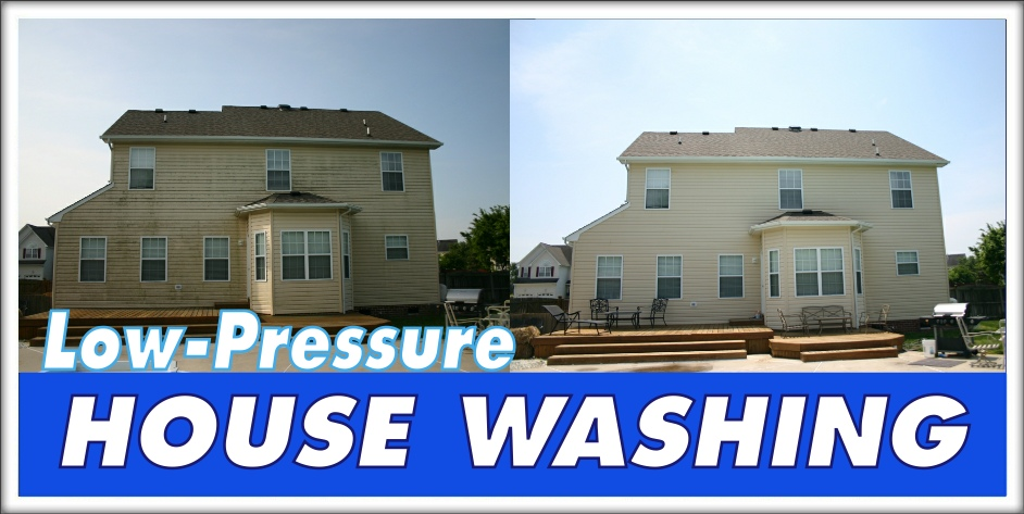 Low Pressure house Washing Chesapeake VA